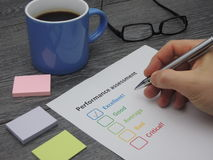 Performance assessment - excellent royalty free stock photography