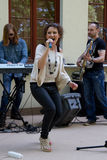 The performance of the band Agnessa Stock Image