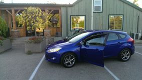 Performance blue 2014 Ford focus Royalty Free Stock Photos