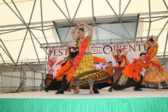 Performance of Bollymasala Dance Company Stock Images