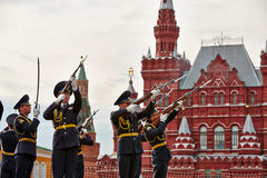 Performance of cadets of Presidential Regiment Stock Photo
