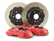 Performance car brakes. Auto parts Royalty Free Stock Photos