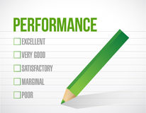 Performance check list illustration design Royalty Free Stock Photos