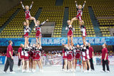 Performance of cheerleaders team at Championship Stock Photos