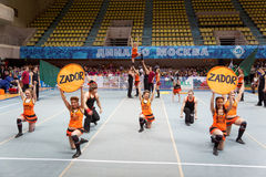 Performance of cheerleaders team Zador Stock Photography