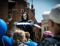 Performance for children on central square in poland. Royalty Free Stock Photos
