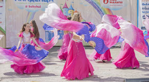 Performance of children dance ensemble of babybal Stock Photography