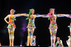 Performance of children`s dance group, Royalty Free Stock Photos