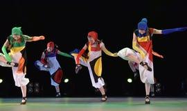 Performance of children`s dance group, Stock Image