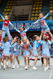 Performance of children team Sharks stock image