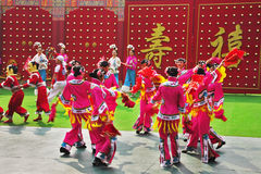 Performance of the Chinese dancing ensemble Stock Photos
