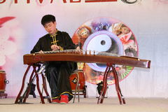 Performance by the Chinese musician Stock Photo