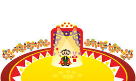Performance in circus. Performance of conjurer in circus Royalty Free Stock Photos