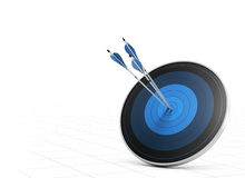 Performance Concept, Arrow and Target Royalty Free Stock Photo