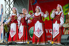 Performance of creative choral collective, Gomel, Belarus Stock Images