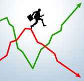 Performance curve Royalty Free Stock Image