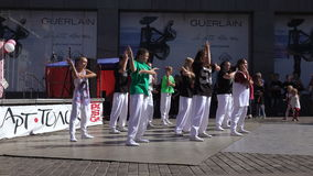 Performance dance collectives in hip-hop style stock video