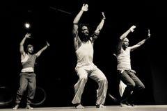 Performance of Dance Theater Cape Verde «Raiz Di Polon». Black and white Royalty Free Stock Image
