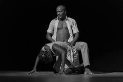 Performance of Dance Theater Cape Verde «Raiz Di Polon». Black and white Stock Images