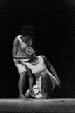 Performance of Dance Theater Cape Verde «Raiz Di Polon». Black and white Royalty Free Stock Images