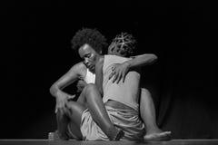 Performance of Dance Theater Cape Verde «Raiz Di Polon». Black and white Stock Photography