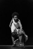 Performance of Dance Theater Cape Verde «Raiz Di Polon». Black and white Royalty Free Stock Photos