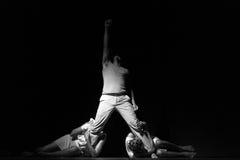 Performance of Dance Theater Cape Verde «Raiz Di Polon». Black and white Stock Image