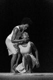 Performance of Dance Theater Cape Verde «Raiz Di Polon». Black and white Royalty Free Stock Image