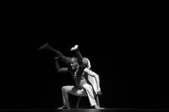 Performance of Dance Theater Cape Verde «Raiz Di Polon». Black and white Stock Images
