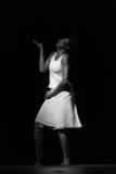 Performance of Dance Theater Cape Verde «Raiz Di Polon». Black and white Stock Photo