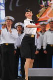 The performance of dancers, chorus and soloists of the ensemble of song and dance of the black sea naval Fleet (Sevastopol, Crimea Royalty Free Stock Image
