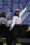 The performance of dancers, chorus and soloists of the ensemble of song and dance of the black sea naval Fleet (Sevastopol, Crimea Stock Photography