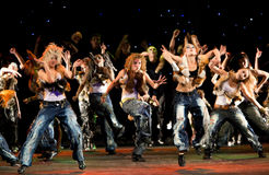 Performance of dancing group Royalty Free Stock Photography