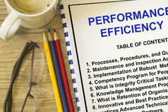 Performance and efficiency Stock Photos