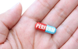 Performance energy pill concept Stock Photos