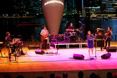 Performance at Esplanade Outdoor  theater  Singapore Stock Photography