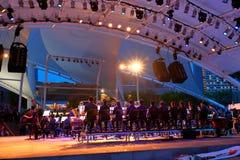 Performance at Esplanade Outdoor theatre Singapore Stock Image