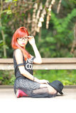 Pretty Asian girl royalty free stock photos