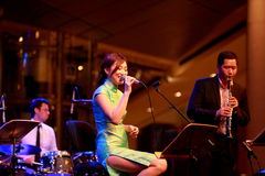Performance at Esplanade Singapore Stock Image