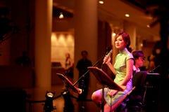 Performance at Esplanade Singapore Stock Photo