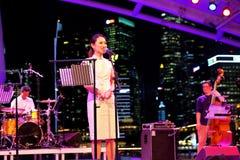 Performance at Esplanade Singapore Royalty Free Stock Photo