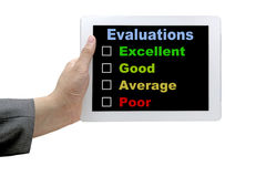 Performance Evaluation Audit Checklist Royalty Free Stock Photos