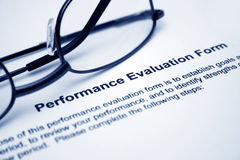 Performance evaluation form Stock Image