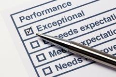 Performance evaluation Stock Photos