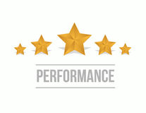 Performance with five stars on screen concept. Illustration design graphic royalty free stock image