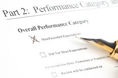 Performance form. Employee perf. form Royalty Free Stock Images