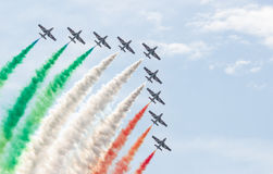 Performance of the Frecce Tricolori Stock Images