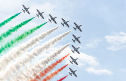 Performance of the Frecce Tricolori Royalty Free Stock Images