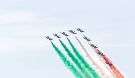 Performance of the Frecce Tricolori Royalty Free Stock Image