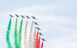 Performance of the Frecce Tricolori Stock Photography
